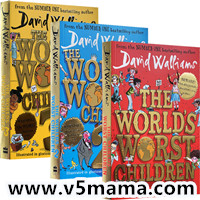 大卫威廉姆斯幽默少年小说系列英文原版The World's Worst Children Series 1-3 - David Walliams 有声书音频Mp3
