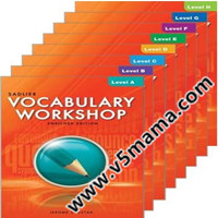 美国中学生科学词汇教材Vocabulary Workshop Level A-Level H高清PDF+MP3音频