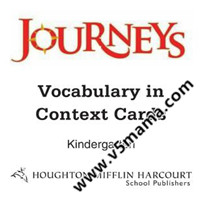 加州教材Joruneys配套的英文单词学习卡片Journeys Vocabulary in Context Cards GK-G6 高清PDF源文件