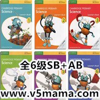 剑桥小学科学英语教材Cambridge Primary Science全6级Student Book+Activity Book