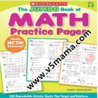 学乐小学低年级英文原版综合数学练习册The Jumbo Book of Math Practice Pages 300 Reproducible Activity Sheets