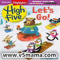 美国幼儿2-6岁儿童英文杂志Highlights High Five Magazine February 2018 原生PDF