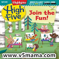 美国幼儿2-6岁儿童英文杂志Highlights High Five Magazine April 2018原生PDF