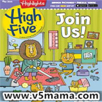 美国幼儿2-6岁儿童英文杂志Highlights High Five Magazine PDF June 2018原生PDF