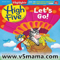 Highlights High Five 2019 杂志 1-4月刊  Ages 2-6高清PDF