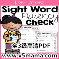 Sight Word Fluency Check练习册 Sight Word 练习册全三级高清PDF