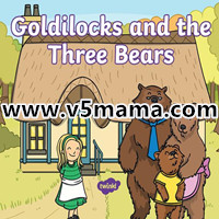 金发女孩和三只熊英文绘本Goldilocks and The Three Bears 高清PPT源文件可作英文绘本教案