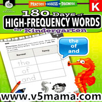 美国幼儿英语Sight Words 高频词练习册180 Days of High-Frequency for Kindergarten (Level K)高清PDF百度网盘下载