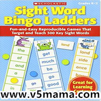 Sight Word 教学手册Scholastic Sight Word Bingo Ladders 学乐自然拼读Sight Word学习练习册