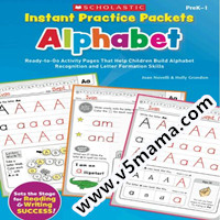美国小学生字母练习册学乐Instant Practice Packets-Alphabet Ready-to-Go Activity Pages 高清PDF源文件