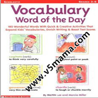 学乐小学高年级单词练习册Vocabulary Word of the Day Grade3-Grade6高清PDF