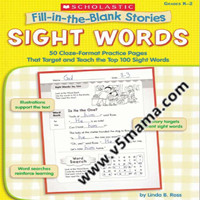 Fill In The Blank Stories Sight Words 等三册自然拼读练习册PDF