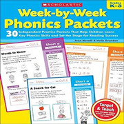 Scholastic 学乐出版自然拼读练习册Week By Week Phonics Packets GK-3