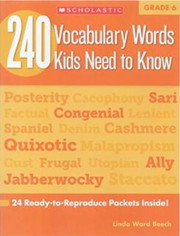 240 Vocabulary Words Kids Need to Know G6 高清PDF下载