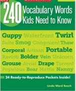 240 Vocabulary Words Kids Need to Know Grade4 高清PDF 下载