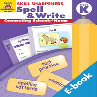 Evan Moor出版的 Skill Sharpners Spell and Write 英文单词拼写写作练习册